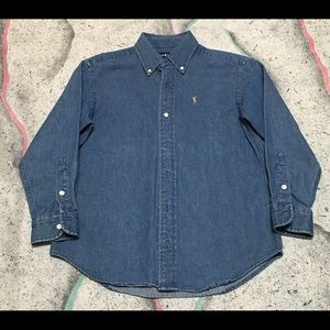 Vintage Boys Ralph Lauren Denim Shirt Size Medium